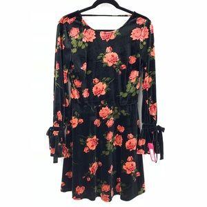 Xhilaration Velvet Rose Print Dress